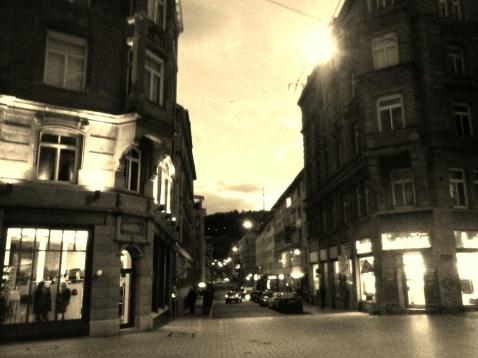Stuttgarter Innenstadt am Morgen